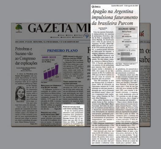 Gazeta Mercantil / To overcome the TDI crisis, Purcom develops flexible foam using MDI