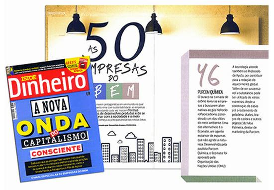 Isto É Dinheiro Magazine / The 50 companies of goods