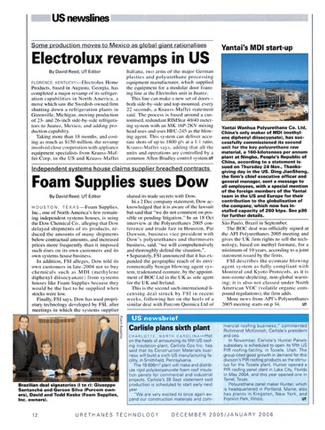 Urethanes Technology Magazine / Purcom partners with the North American Foam Supplies